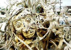 Demonic heads at the White Temple, Chiang Rai, Thailand
