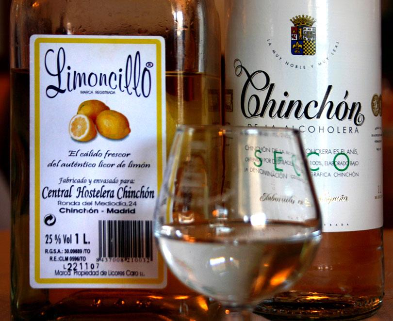 Limoncillo and Anis de Chinchón