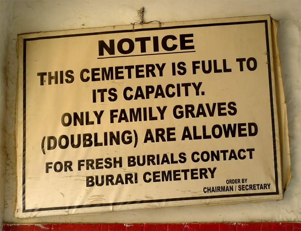Full to capacity, Indian Christian Cemetery