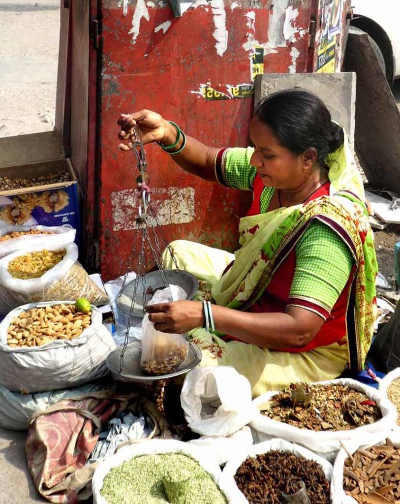 Nehru Bazar spice seller